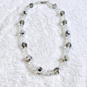 Clear Crystal with Silver Crystal Accent Necklace